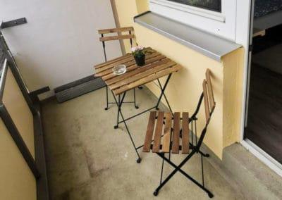 Monteurzimmer Zwickau Balkon
