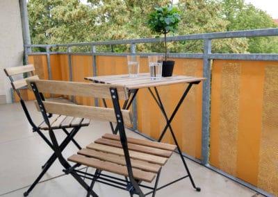 Monteurzimmer Salzgitter & Braunschweig Balkon